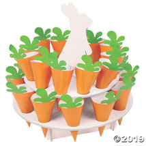 Easter Bunny Carrot Treat Stand with Cones - $18.87