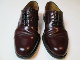 Cole Haan Men Shoe Size 10 D Burgundy Cap Toe Oxfords R1 - $47.49