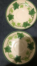 "Franciscan Ivy Saucers Set Of 2 I Love Lucy Dishes 6 1/4"" FREE SHIPPING - $19.79"