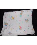 Riegel Teddy Beddy Bear Receiving Baby Blanket White Cotton Little Lambs... - $49.48