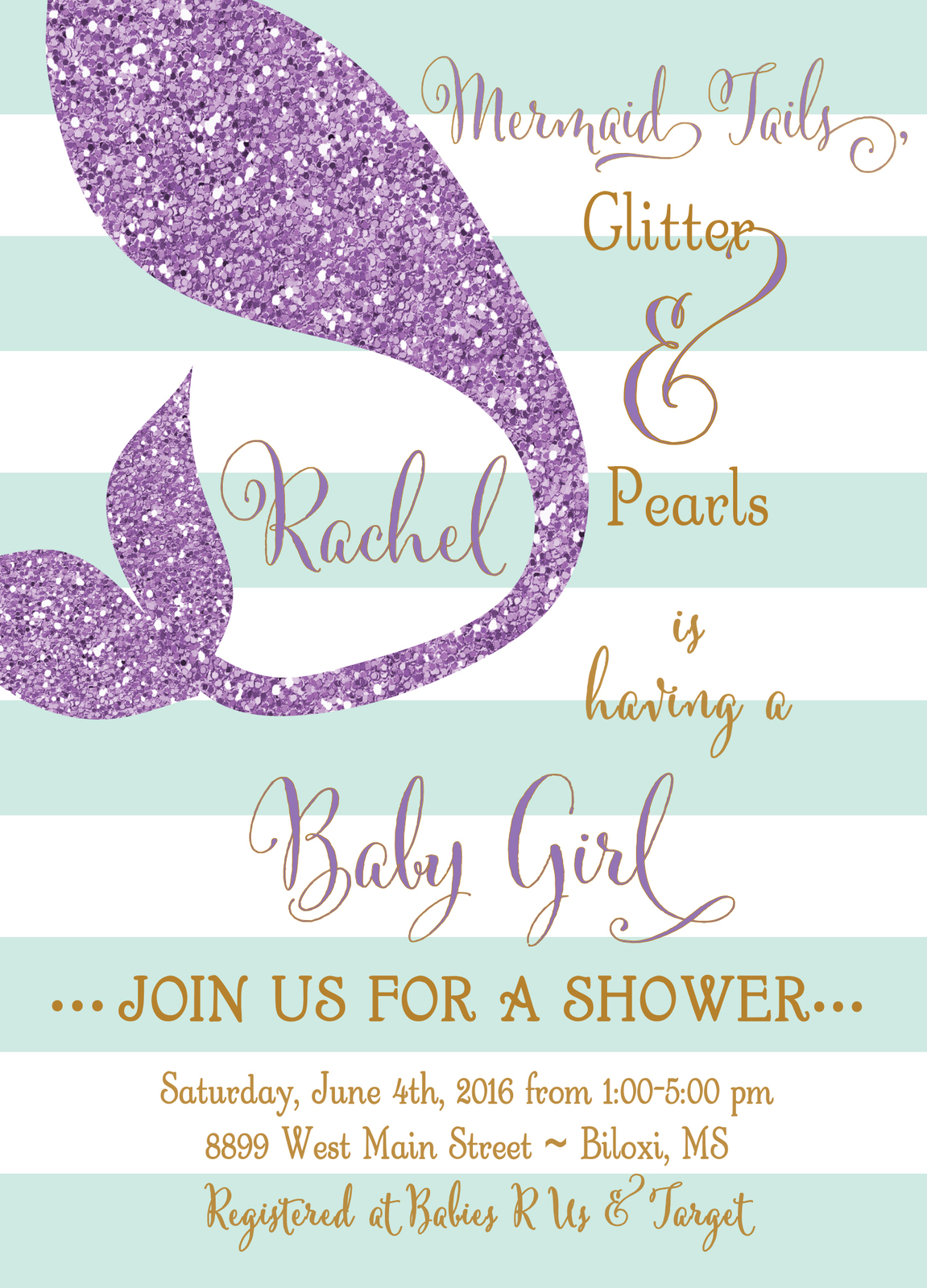 photograph relating to Printable Mermaid Baby Shower Invitations identified as Mermaid Child Shower Invitation Woman, Down below and 50 equivalent solutions
