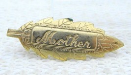 VTG J.S. Gold Filled Mother Engraved Leaf Pin Brooch - $29.70