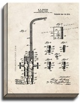 Welding-torch Patent Print Old Look on Canvas - $39.95+