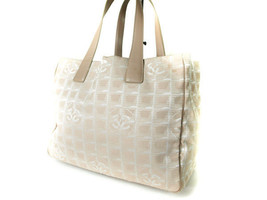Auth CHANEL Travel line Canvas Leather Pinks Tote bag CT11406L - $180.00