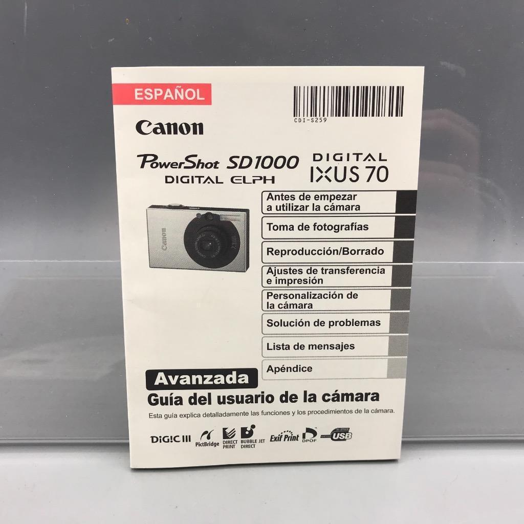 canon powershot sd1000 digital camera user and 39 similar items rh bonanza com canon powershot sd1000 instruction manual canon powershot sd1000 user manual