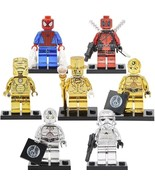 Mr Gold Iron Man Golden Chrome Darth Vader C3PO Deadpool Minifigures Toy - $5.99