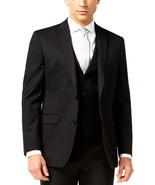 NEW $425 BAR III SOLID BLACK 100% WOOL SLIM FIT BLAZER SPORT COAT JACKET... - $75.73