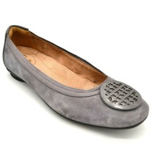 Clarks Woman's Candra Blush Suede Ballet Flats Sz 7 W Grey Cushioned Insole - $39.59