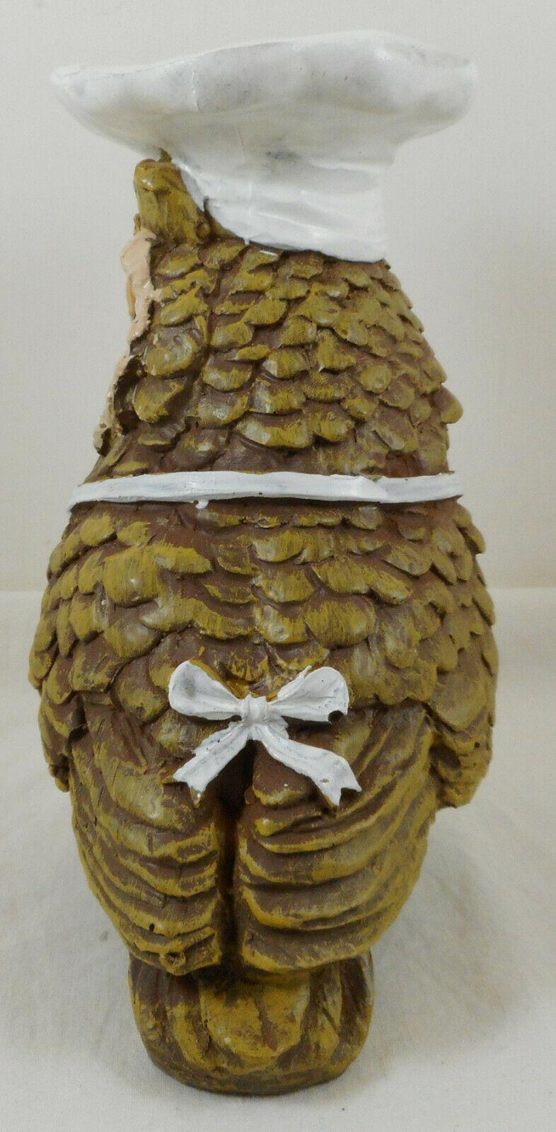 "Kiss The Cook Owl Figurine 6"" Resin Anthropomorphic"
