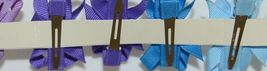 Unbranded Wholesale Lot 22 Small Bows Assorted Colors Bow Hanger Included image 5