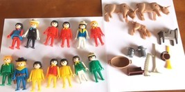 1974 Geobra Vintage Playmobil Lot Of 25 Figures, Animals, Tools  Toys - $15.83