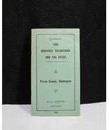 1932 Assessed Valuations Tax Rates Pierce County Washington Norton - $11.95