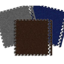 Alessco Premium SoftCarpets Black (6' x 6' Set) - $166.64