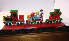 Christmas Train Stocking Hangers Engine Toys Caboose 3 Pc Set Holders Ca... - $58.36