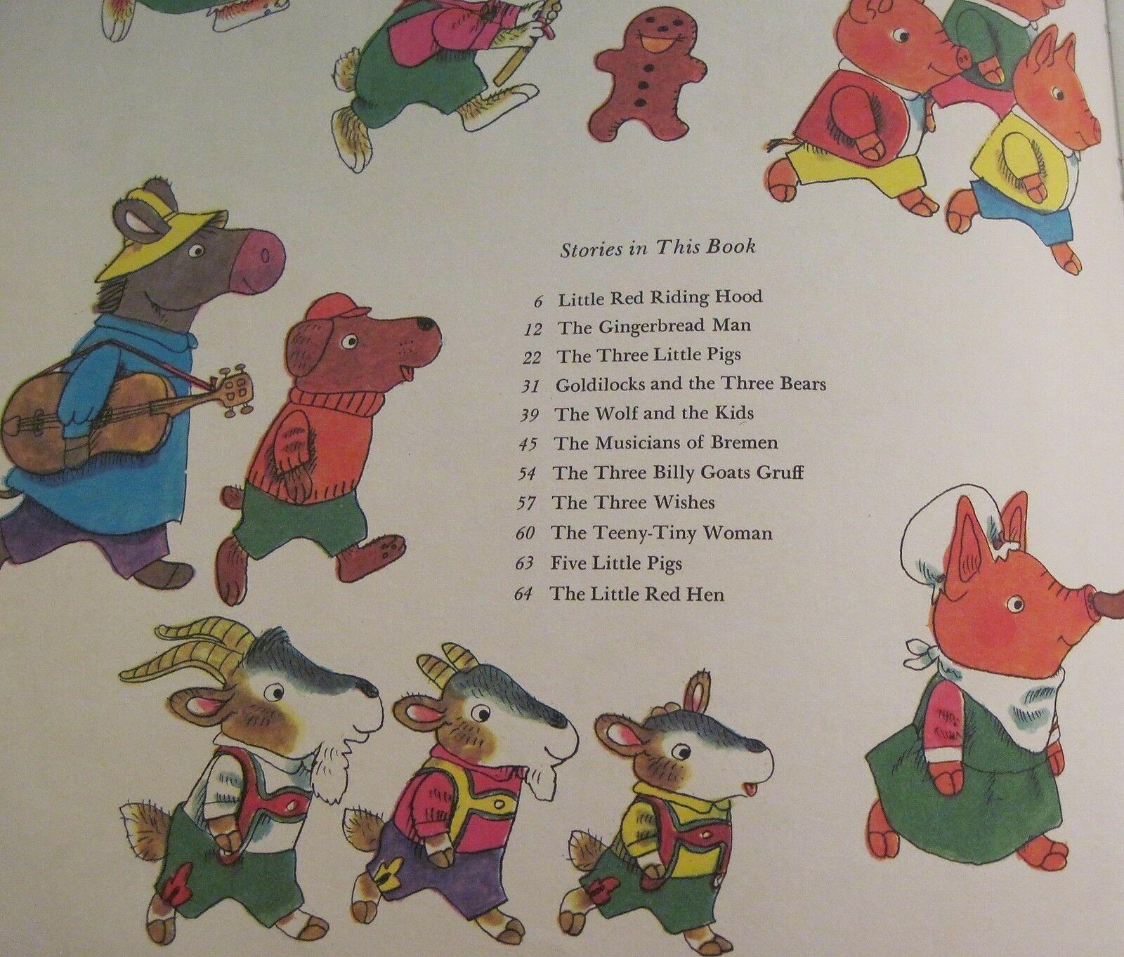 Richard Scarry's Animal Nursery Tales 1975 Vintage Book Oversized Hardcover