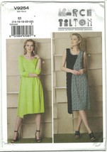 Vogue 9254 Marcy Tilton Asymmetrical Dress Pattern Lagenlook Choose Size... - $12.99