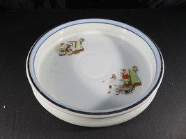 Vintage porcelain baby plate dish bowl Christmas Clock decor - $22.00