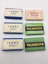 Vintage Hotel Souvenir Soap Palmolive Ivory Colgate NOS Lot Of 6 (17-1067A) - $14.80