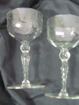 "Lot of 2 Cordial Crystal Glass Mikasa Height: 5 1/8"" - $28.49"