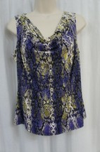 Calvin Klein Top Petite Sz PL Byzantine Multi Cowl Jersey Sleeveless Blouse - $24.18