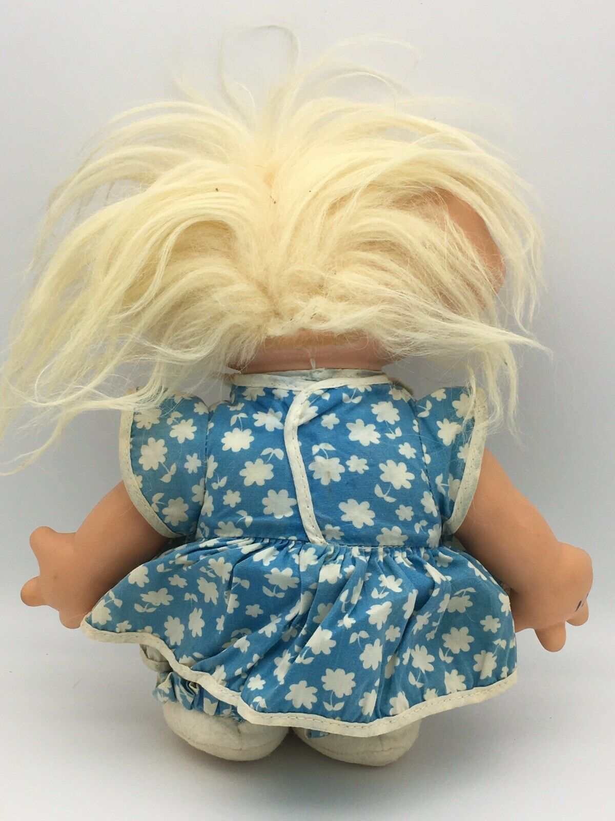 Vintage Scandia House Troll Doll Vinyl Head Cloth Body 1960s 11""