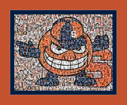University of Syracuse Photo Mosaic Print Art Created Using Past and Pre... - $42.00