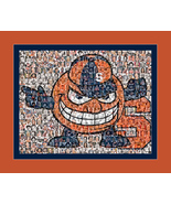University of Syracuse Photo Mosaic Print Art Created Using Past and Pre... - $25.00