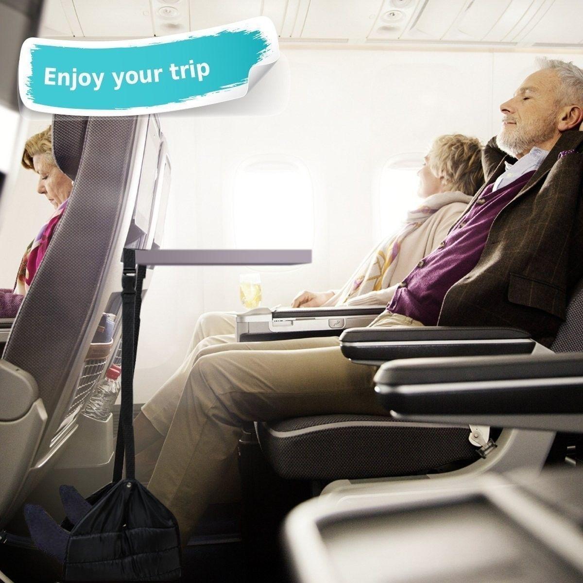 E-Bro Travel Adjustable Foot Rest Stand Portable Feet Hammock Flight Footrest