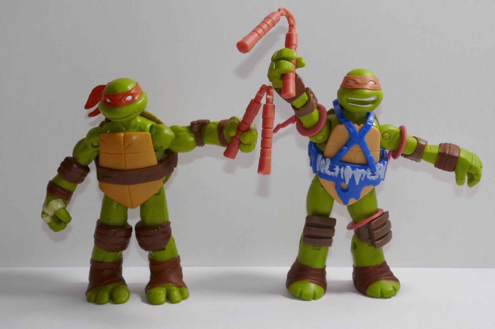 """4.5/"""" Teenage Mutant Ninja Turtles TMNT Michaelangelo Mikey 2013 Viacom Figure"""