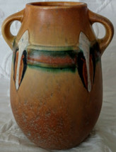 """ROSEVILLE """"Montacello"""" Pottery Vase # 561-7 believed to be a first year ... - $303.88"""