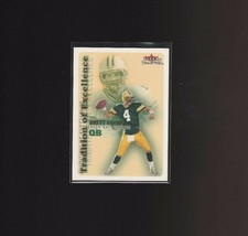 2000 Fleer Tradition of Excellence #1TE Brett Favre Green Bay Packers  - $1.00