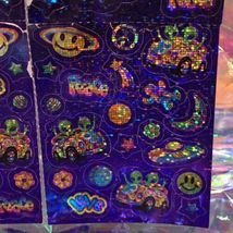 VINTAGE Lisa Frank Sticker Sheet ZOOMER AND ZORBIT with Flaws but COMPLETE image 5
