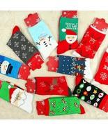 Christmas Santa Socks Xmas Winter Women Gift Gift Cotton Funny Girl Stoc... - $4.99