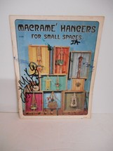 """Vintage 1975~""""Macrame Hangers for Small Spaces"""" #H-228 Instruction Booklet - $8.95"""