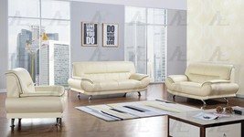 American Eagle EK-B118-IV Ivory Sofa Loveseat and Chair Genuine Leather ... - $2,043.00