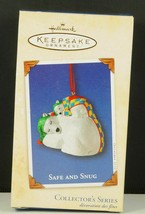 Hallmark Ornament SAFE & SNUG Polar Bear Mom & Baby Napping #2 NIB 2002 - $12.99