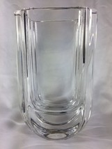 Kosta Boda Wharf Art Deco Lead Crystal Heavy Table Vase Numbered and Signed - $117.80