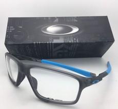 New Oakley Eyeglasses Crosslink Zero OX8076-0156 56-16 138 Satin Grey Smoke-Blue - $199.95