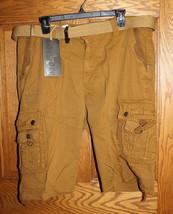 Lee Hanton Men's Belted Cargo Shorts, Brown, Size 40 - $12.60