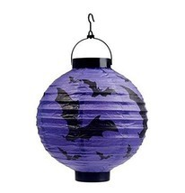 Set of 5 Halloween Decorative Lanterns Round Paper Lanterns (Bat) - $424,52 MXN