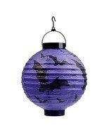 Set of 5 Halloween Decorative Lanterns Round Paper Lanterns (Bat) - $22.59