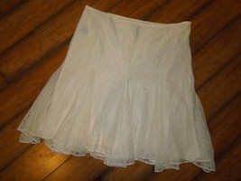 Lauren Ralph Lauren LRL SKIRT lace Pearl Off White lined Size 8 - $42.03