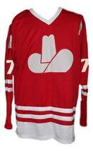 Custom Name # Calgary Cowboys Retro Hockey Jersey New Chipperfield Red Any Size image 3