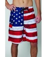 USA American Flag Old Glory Mens Board Shorts Swim Trunks Patriotic S-4XL - $16.95