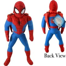 "Marvel Spider-man 20.5"" inches Plush Backpack - New with Tags Licensed P... - $13.99"