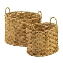 Accent Plus 10018729 Natural Water Hyacinth Oval Baskets Set Multicolor - $54.32