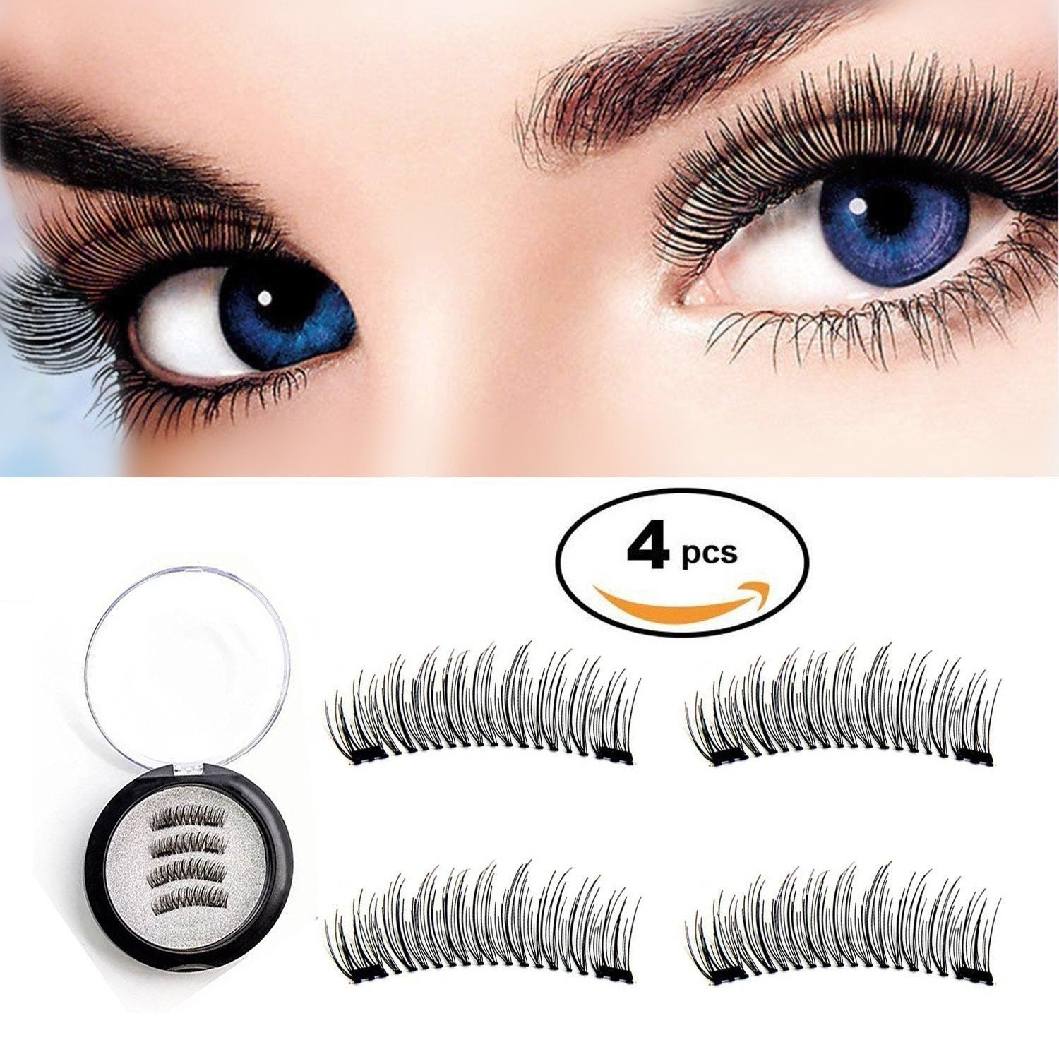 Primary image for New Magnetic False Eyelashes Dual Magnetic Lashes No Glue Ultra Thin 3D Fiber Re