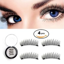 New Magnetic False Eyelashes Dual Magnetic Lashes No Glue Ultra Thin 3D ... - $22.09