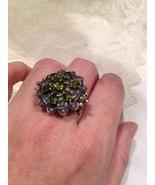Antik Vintage Original Peridot Echter Rose Schnitt Diamant 14k Gold Ring - $940.49