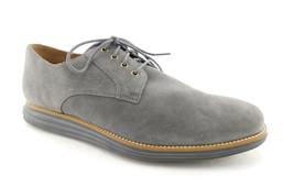 Cole Haan Size 13 Lunargrand Gray Suede Lace Up Oxfords Shoes - $84.00